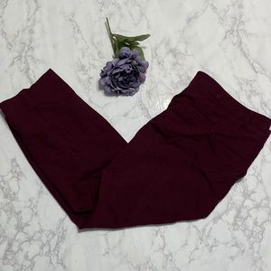 Express burgundy columnist stretch dress pants 18